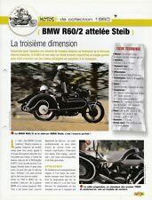 FICHE MOTO BMW R60/2 ATTELÉE STEIB MODÈLE 1960