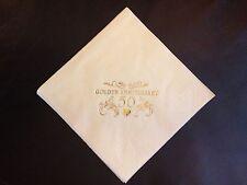 40 golden 50TH anniversaire de mariage crème 2PLY buffet serviettes or design