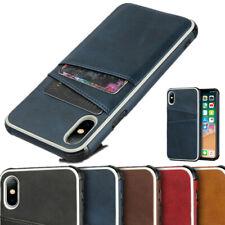 Shockproof Card Slot Leather Soft Bumper Case Cover Card Holder For Smart Phone