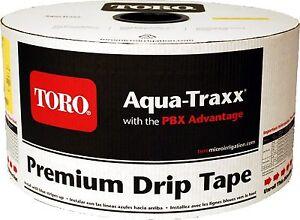 """Toro Aquatraxx 5/8"""" Drip Tape Irrigation Line 4"""" 1.34GPM (0.27GPH) 15MIL 4000FT"""
