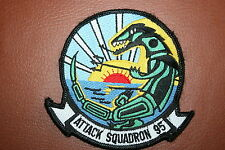 US NAVY / MARINE CORPS SQUADRON PATCH ATTACK 95 G1 LEATHER JACKET FLIGHT SUIT