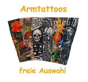 ARMTATTOO Körper Tattoo Totenkopf Verkleidung Strumpf Hose Ärmel Bein Fasching
