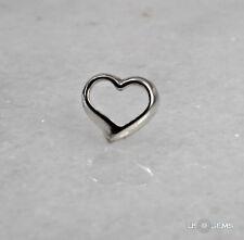 925 Sterling Silver Floating Heart pendant. US@GEMS