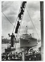 Legion Condor an Bord der Wilhelm Gustloff in Hamburg, Orig-Pressephoto von 1939