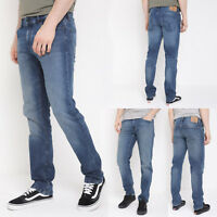 Mens Slim Straight Jeans Ex Designer Brand Regular Fit Denim