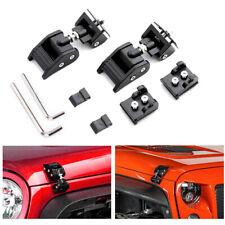 1Set Aluminum Hood Lock Latch Catch Set For Jeep Wrangler JK JKU 2007-2018 NEW