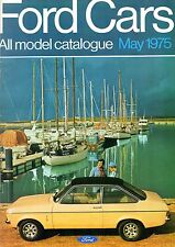 Ford Cars May 1975 UK Market Sales Brochure Escort Cortina Capri Consul Granada