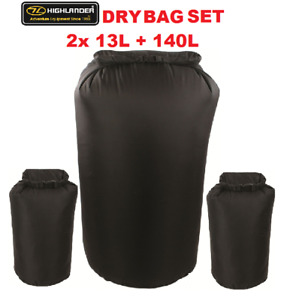 BERGEN RUCKSACK DRY BAG LINER SET HIGHLANDER X-LITE 2x 13L + 1x 80L BLACK
