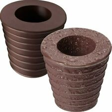 Umbrella Cone Wedge Patio Table Hole Opening Parasol Base Stand 2 Pack Brown New