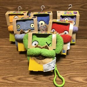 6 Ugly Dolls Plush Clips for Purse Backpack One Eyed Monsters Hasbro Lot