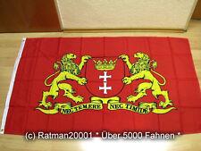 Fahnen Flagge Danzig großes Wappen - 90 x 150 cm