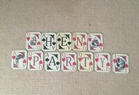 Alice In Wonderland Playing Card Hen Party Bunting/banner decoration