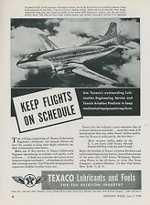 1948 Texaco Aviation Ad Martin Aircraft 2-0-2 Fuel Gas Oil Airliner Airplane