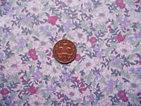 PALE PINK WITH A PINK, WHITE & LILAC FLORAL PATTERN - 100% COTTON FABRIC FQ'S