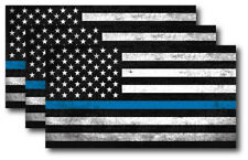 3 I support Police Officer Thin Blue Line American Flag decal sticker Window Car