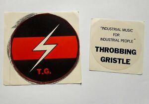 vintage THROBBING GRISTLE stickers punk industrial TG p-orridge