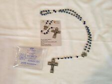 Ghirelli Rosary + Antique Silver + Blue Glass Beads