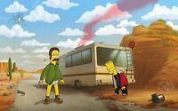 The Simpsons - Breaking Bad Cartoon Art Large Poster / Canvas Picture Prints