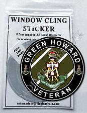 GREEN HOWARD, VETERAN WINDOW CLING STICKER  8.7cm Diameter