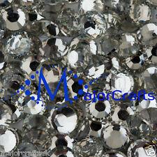 200pcs Crystal Clear 8mm ss40 Flat Back Resin Rhinestones Diamante Gems C29