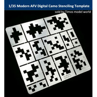 1/35 Modern AFV Digital Camo Stenciling Template Model Building Tool AJ0013