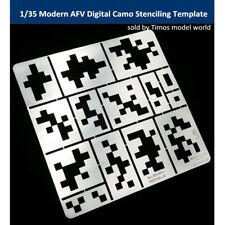 1/35 Modern AFV Digital Camo Stenciling Template Model Building Tool AJ0013