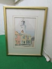 "Watercolour Drawing ""Sole Bay Inn"" Southwold, Suffolk, Monogram Signature CT"