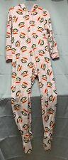 Paul Frank Pink Striped Footsie Pajamas, Size L