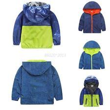 2-7Y Boy Girl Baby Kid Outwear Camouflage Hooded Jackets Long Sleeve Windbreaker