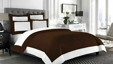US Twin & Solid Color 5 PC Reversible Comforter Set 1000 TC New Egyptian Cotton