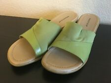 Women's Predictions Green Mules Shoes Size 9