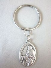 Silver Plated St Juan Diego / Nuestra Senora de Guadalupe Medal Italy Key Ring