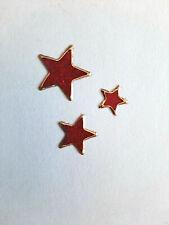 Stickerbogen, Weihnachten, Christmas, Sterne, Glitzer, Rot, Nr. 7078