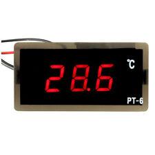 RINGDER 12V Car PT-6 Digital Thermometer LED Embedd Temperature Meter Senso T8H7