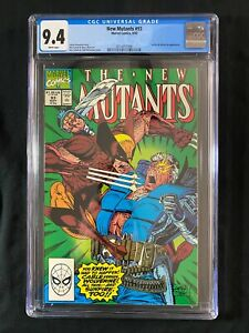New Mutants #93 CGC 9.4 (1990) - Wolverine & Sunfire appearance