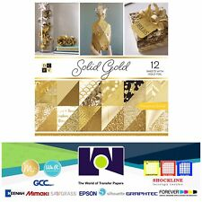 """DCWV®️ SOLID GOLD PAPER STACK 12""""X12"""" 12/PKG PS-005-00562"""