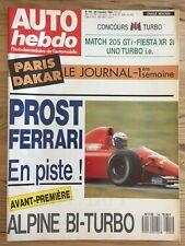 Magazine Auto View No. 704 29/11/89 Paris Dakar Prost Ferrari F1 Alpine