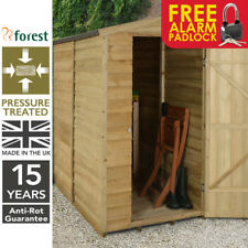 6x3 Pressure Treated Garden Timber Wall Lean To Shed Tool Store Free Padlock