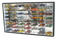 56 Hot Wheels 1:64 Scale Diecast Display Case Stand, Mirrored Back, TWO Door
