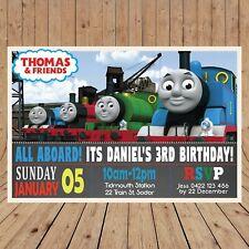 Personalised THOMAS TRAIN Kids Party Invitation Invites DIGITAL - YOU PRINT -