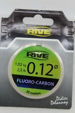Rive Fluoro-Carbon Angelschnur 30 m 721012 Stärke 0,12 Tragkraft 1,02 kg NEU