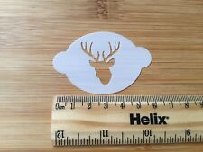 Face paint stencil reusable washable Christmas reindeer stags head mylar 190