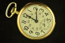 VINTAGE 16 SIZE WALTHAM CRESCENT ST POCKETWATCH RUNNING!