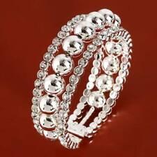 Party Bracelets Bangles Pearl Bead Bangles Fashion Solid Color Rhinestones SM