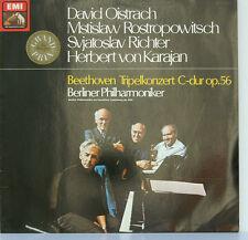 """BEETHOVEN TRIPELKONZERT OISTRACH ROSTROPOWITSCH RICHTER VON KARAJAN 12"""" LP (d24)"""