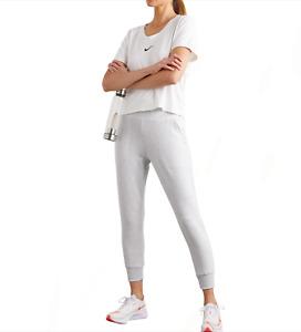 Nike Women's Flow Hyper Grey Heather 7/8 Yoga Pant Joggers XS S M L XL