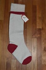 Pottery Barn Kids Solid Fair Isle Christmas Stocking Ivory #13