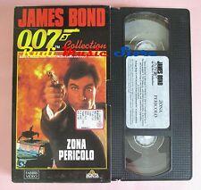 film VHS cartonata ZONA PERICOLO JAMES BOND OO7 COLLECTION 1987  (F12) no dvd