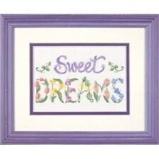 Dimensions D06235   Flowery Sweet Dreams Picture Crewel Embroidery Kit 18 X 13cm