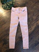 ⭐️ American Eagle Size 2 Regular Jeggings 360 Super Stretch Rose Pink Jeans Pant